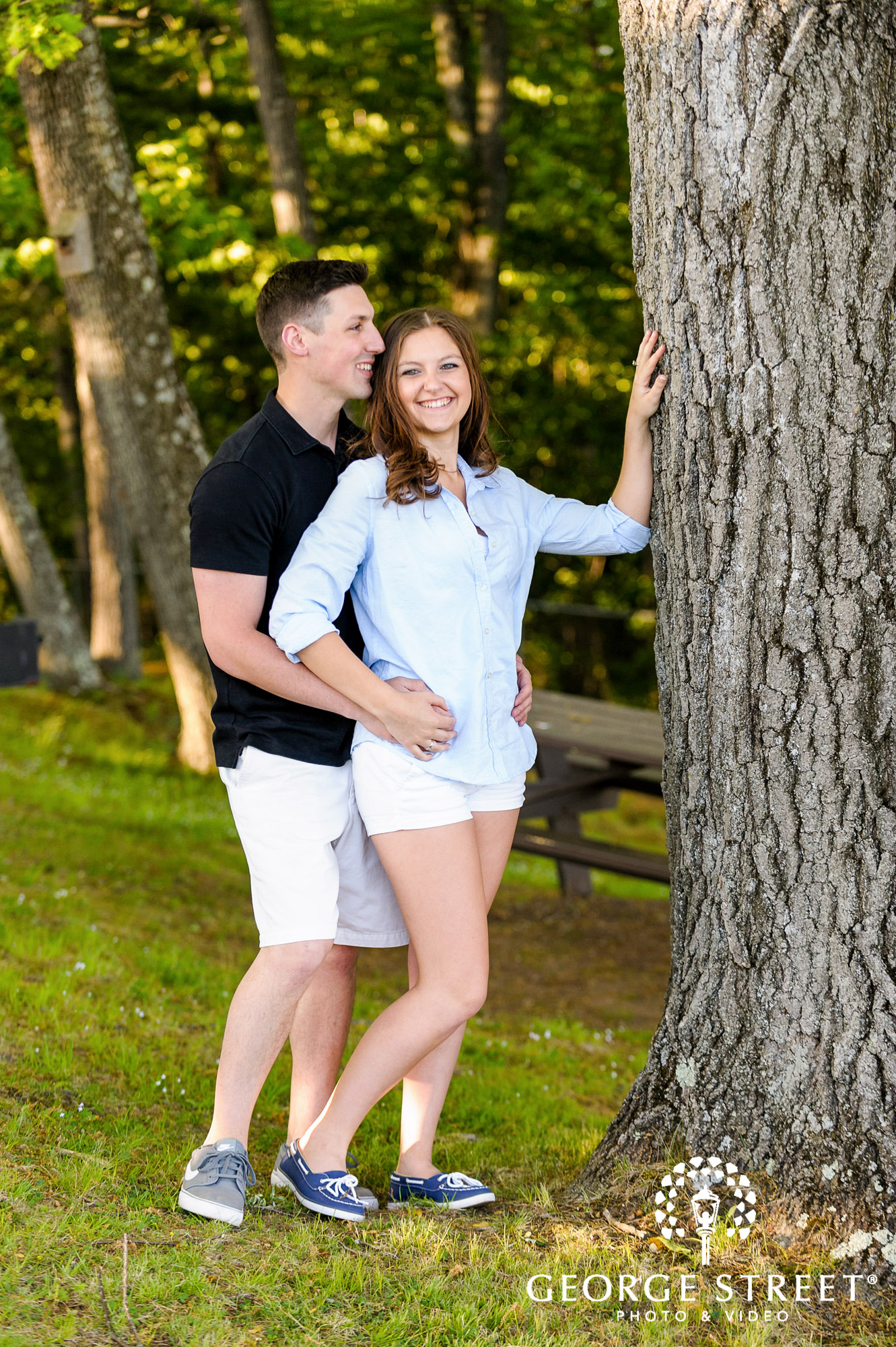 natural light outdoor engagement photo session 2
