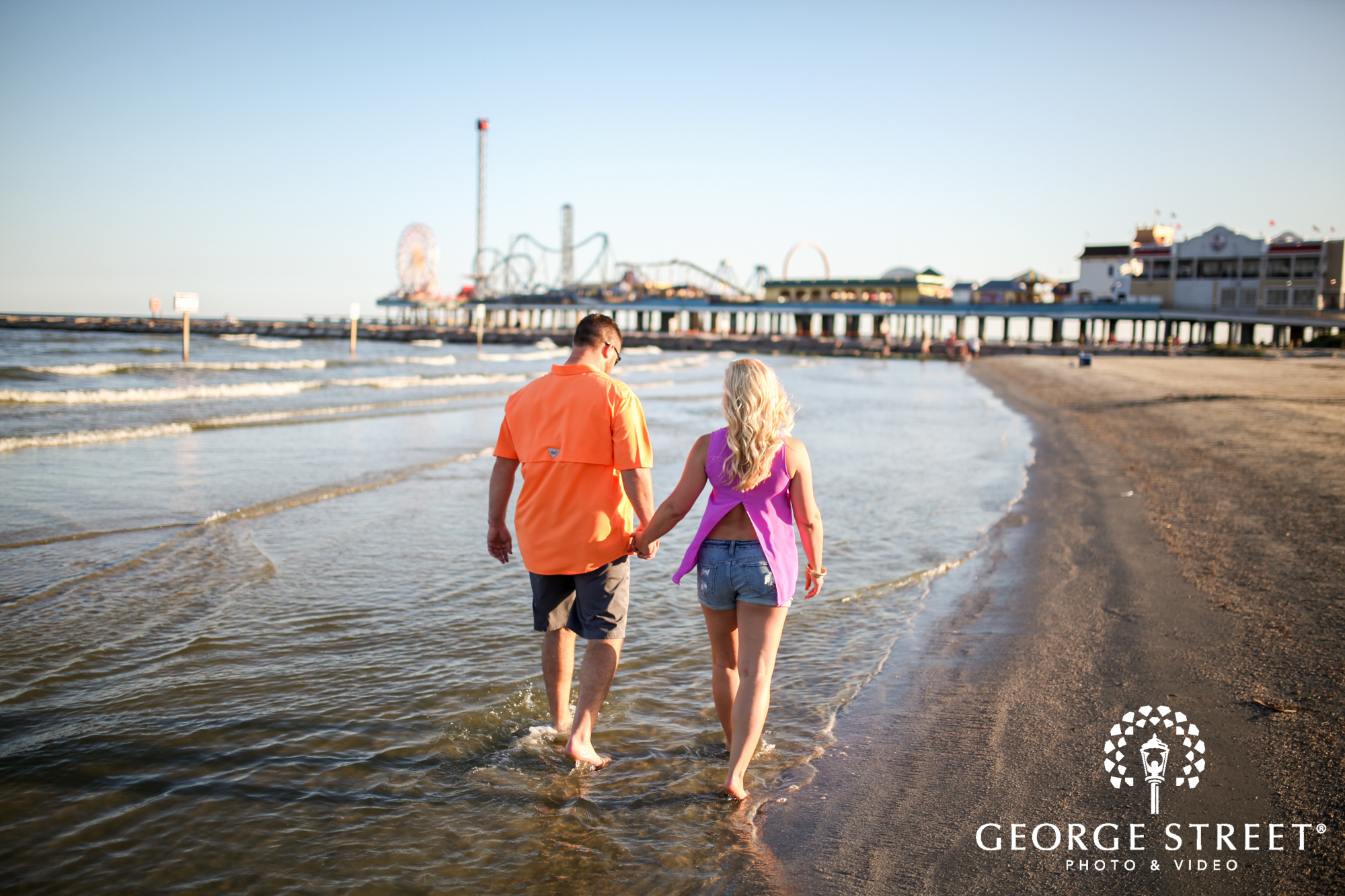 Galveston Island Historic Pleasure Pier Engagement