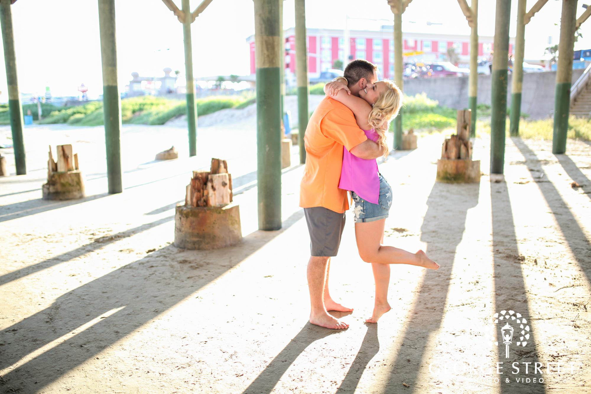 Galveston Island Historic Pleasure Pier Engagement
