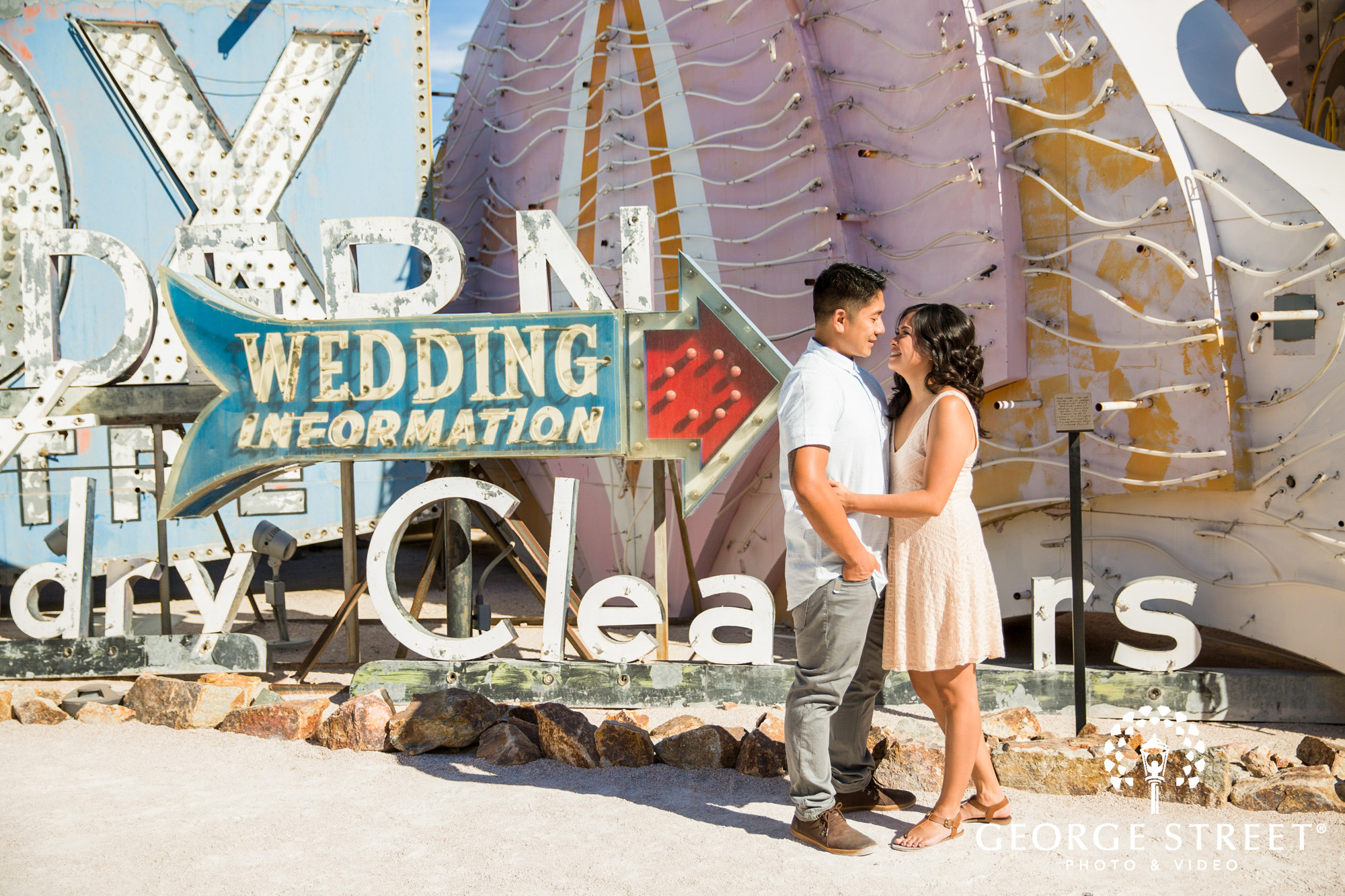 las vegas neon museum engagement photography 10