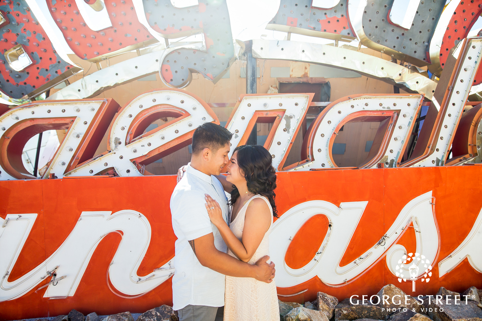 las vegas neon museum engagement photography 4