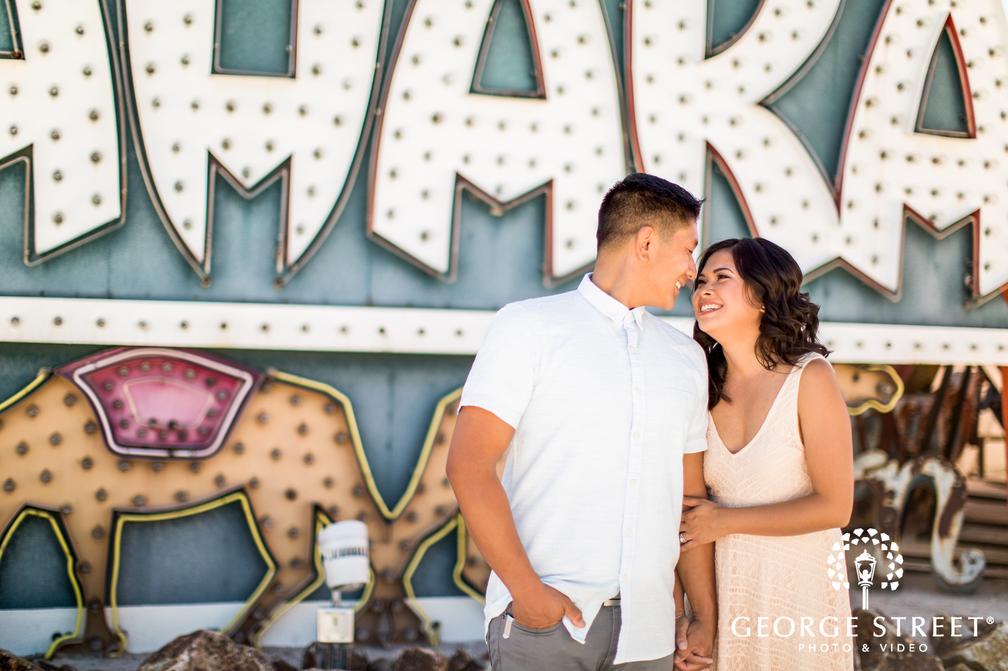 las vegas neon engagement photos 5