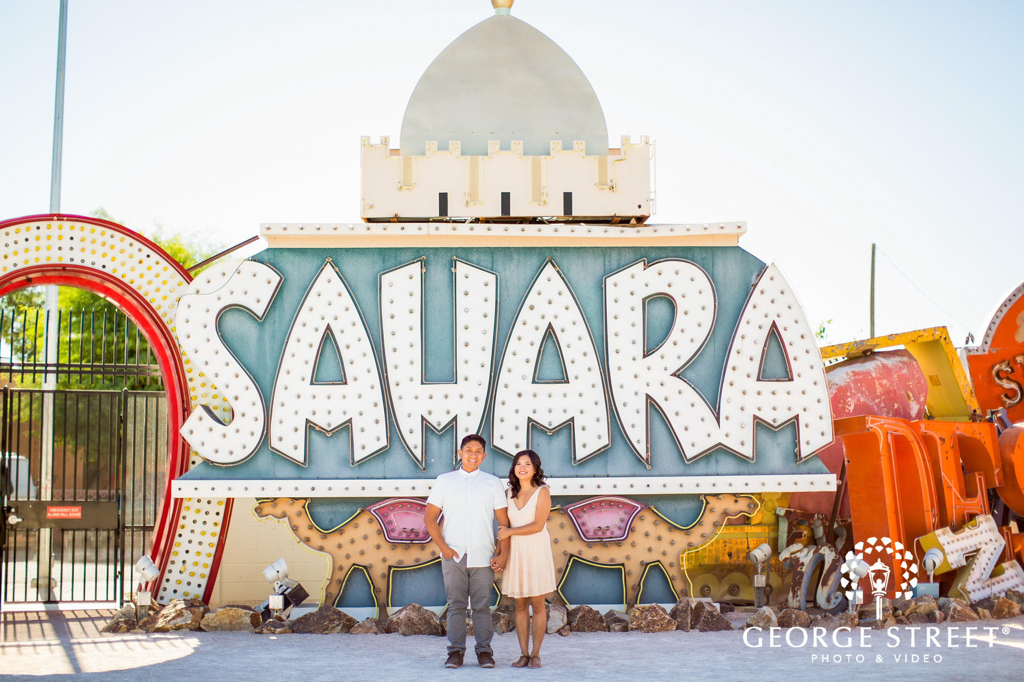 las vegas neon signs engagement photography 2