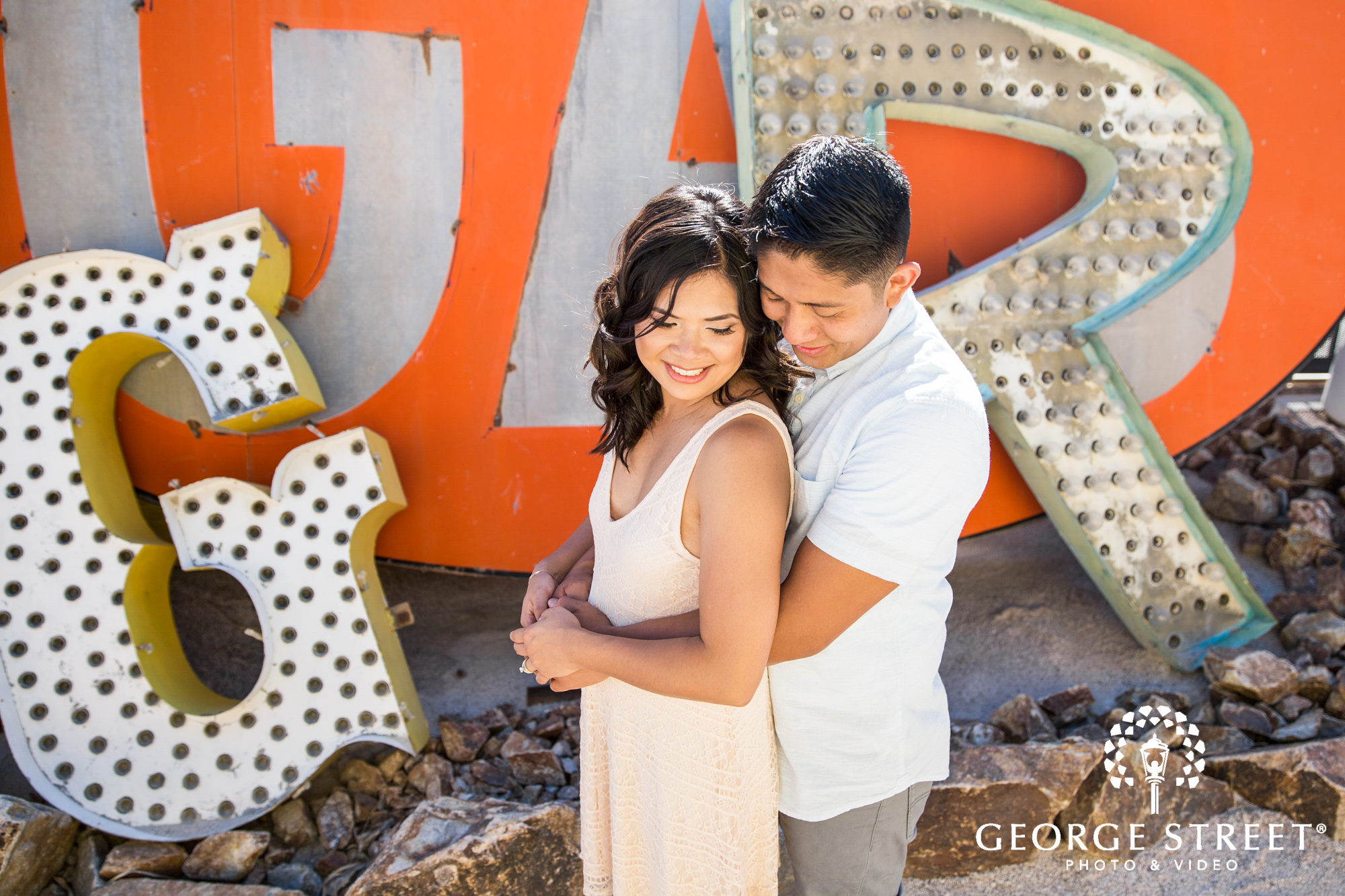 las vegas neon signs engagement photography 7