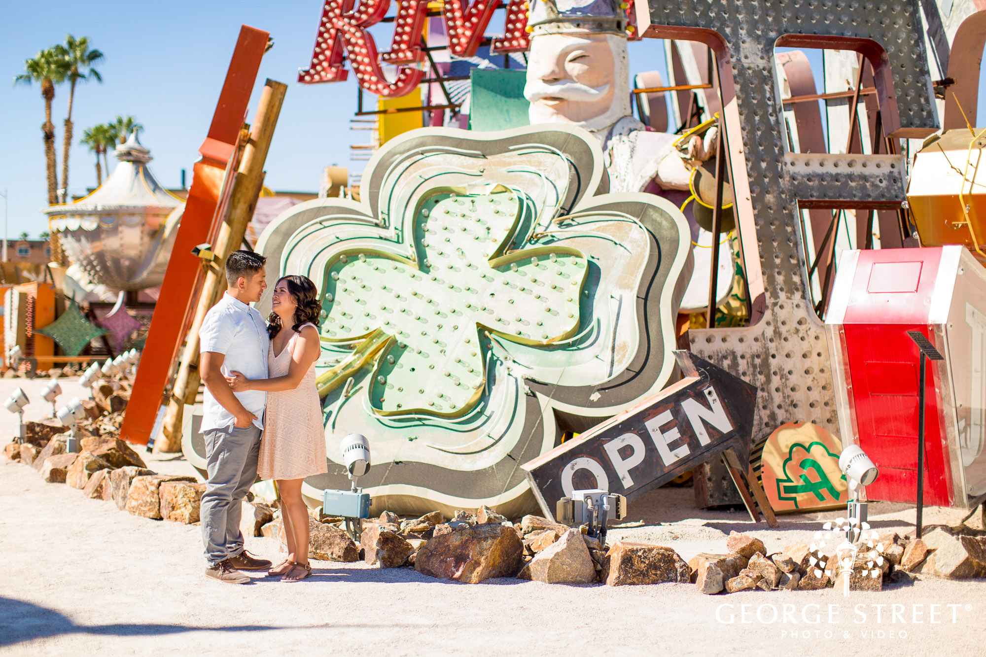las vegas neon signs engagement photography 8