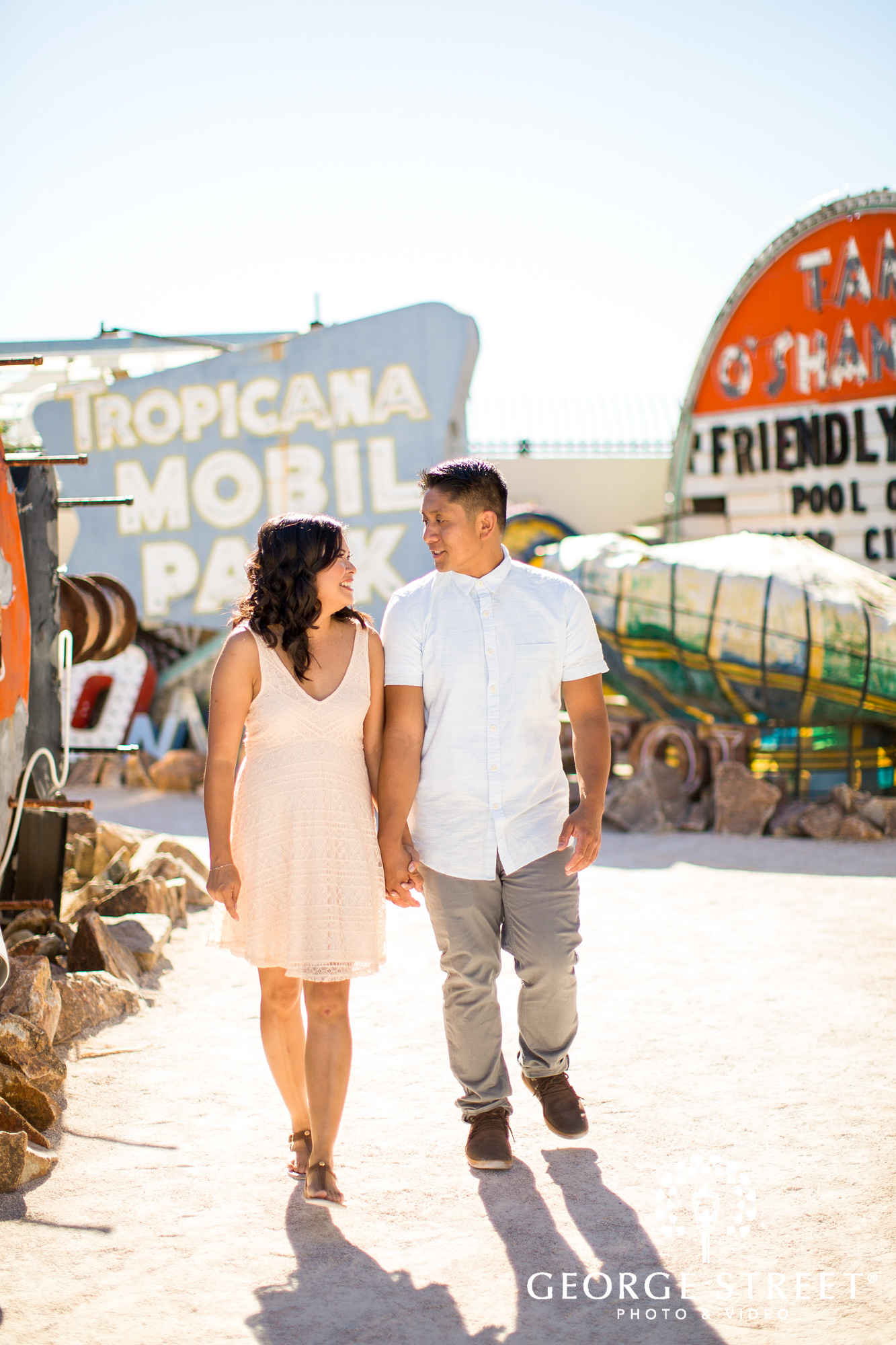 las vegas neon museum engagement photography 5