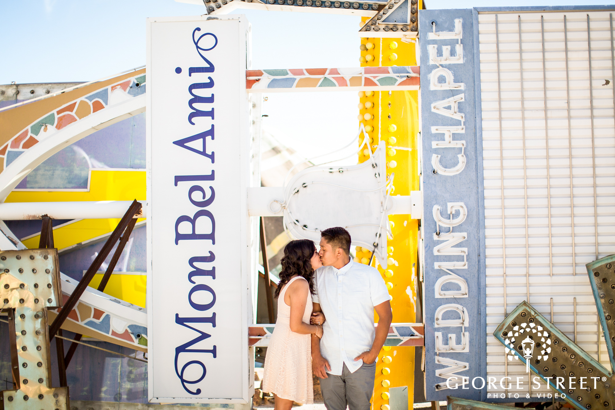las vegas neon museum engagement photography 7