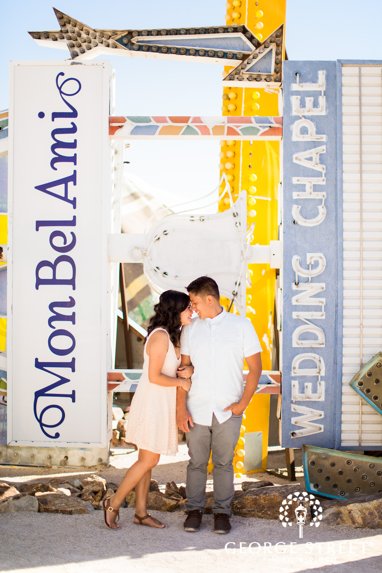 las vegas neon museum engagement photography 8