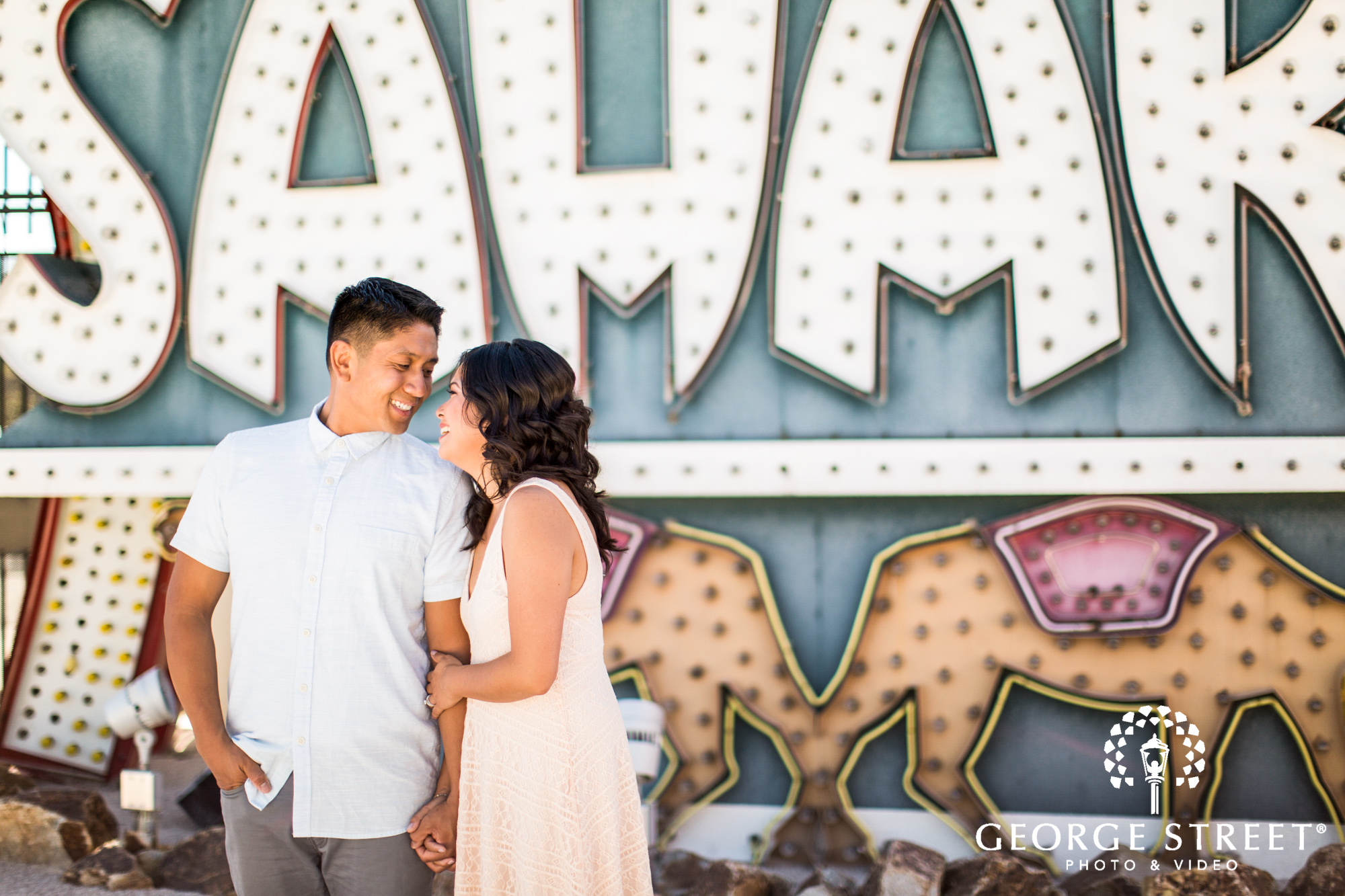 las vegas neon signs engagement photography 3
