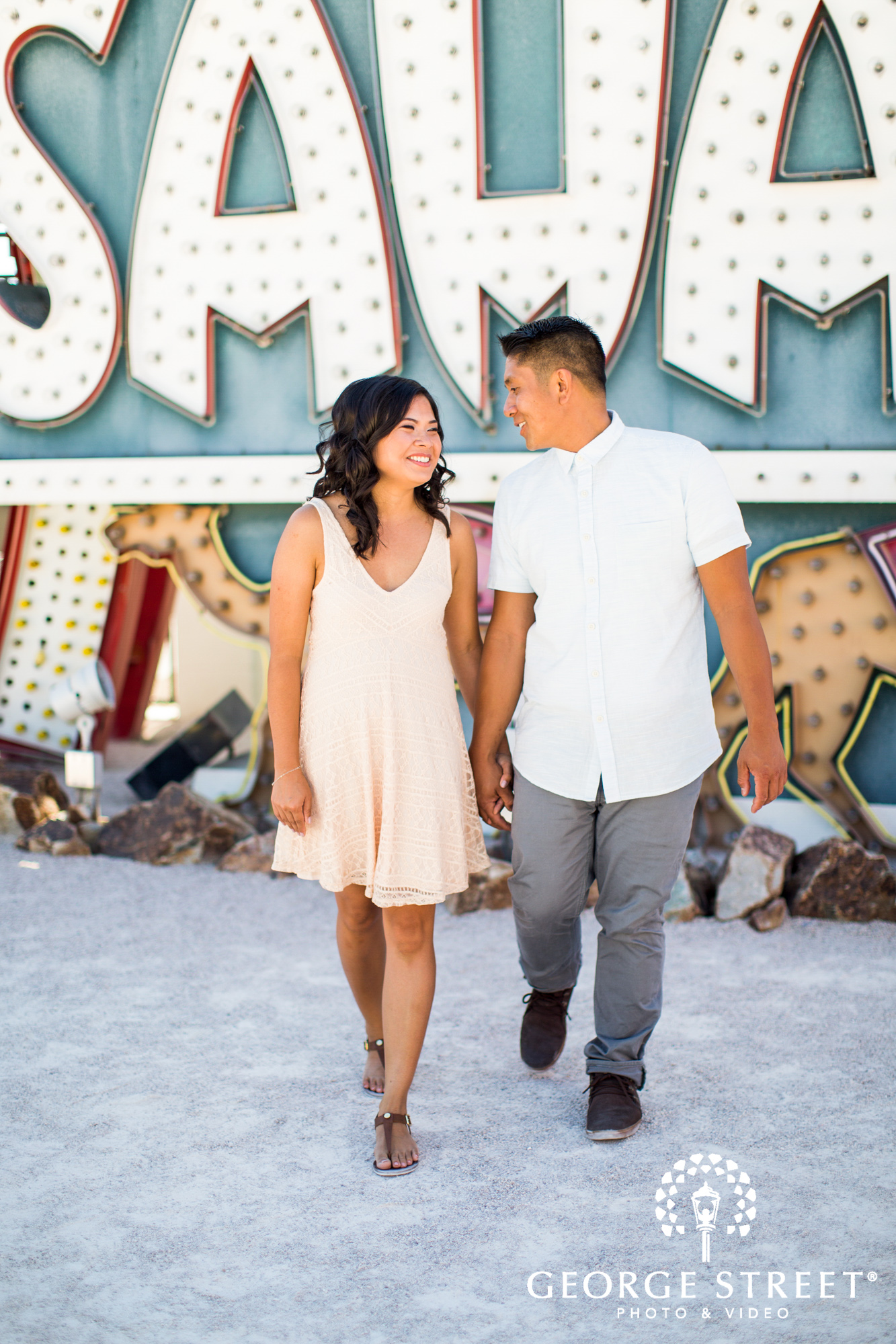 las vegas neon signs engagement photography 5