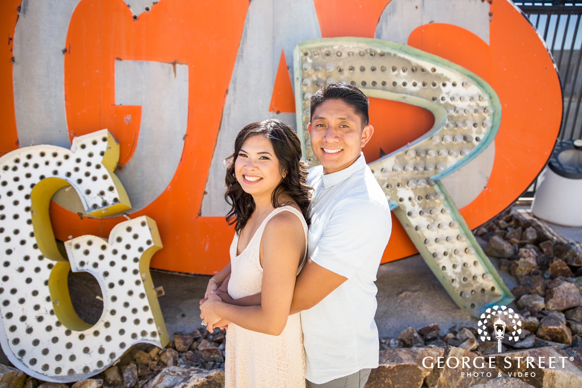 las vegas neon signs engagement photography 6