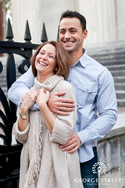 happy couple philadelphia engagement session