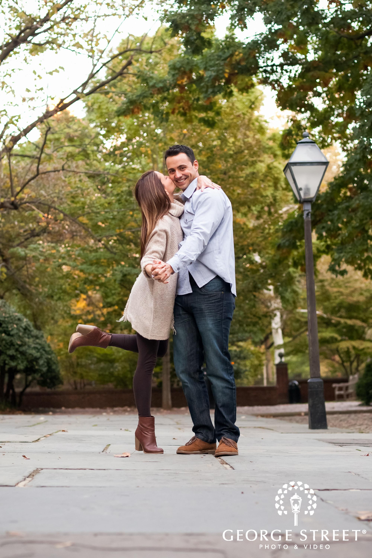 kiss philadelphia engagement
