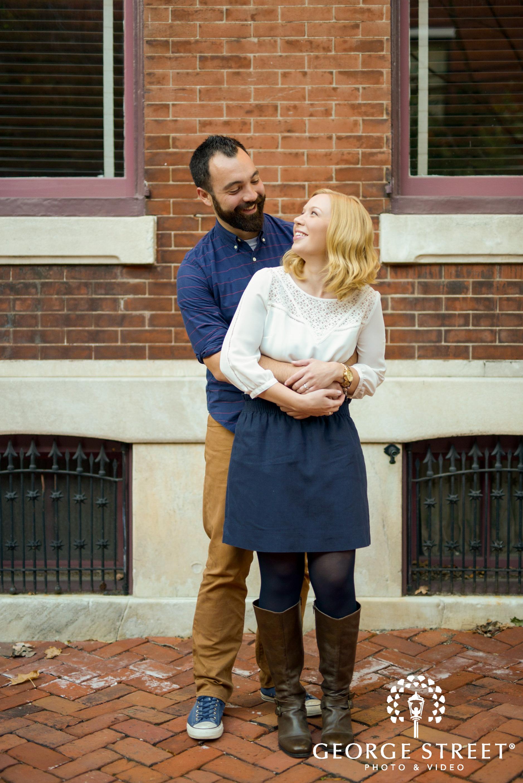 happy couple in philadelphia