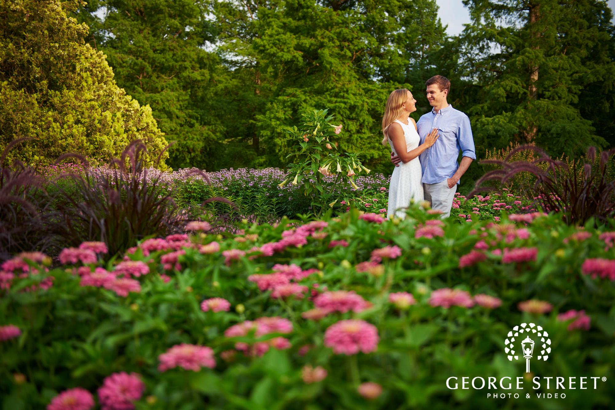 philadelphia summer engagement photos at longwood gardens 2