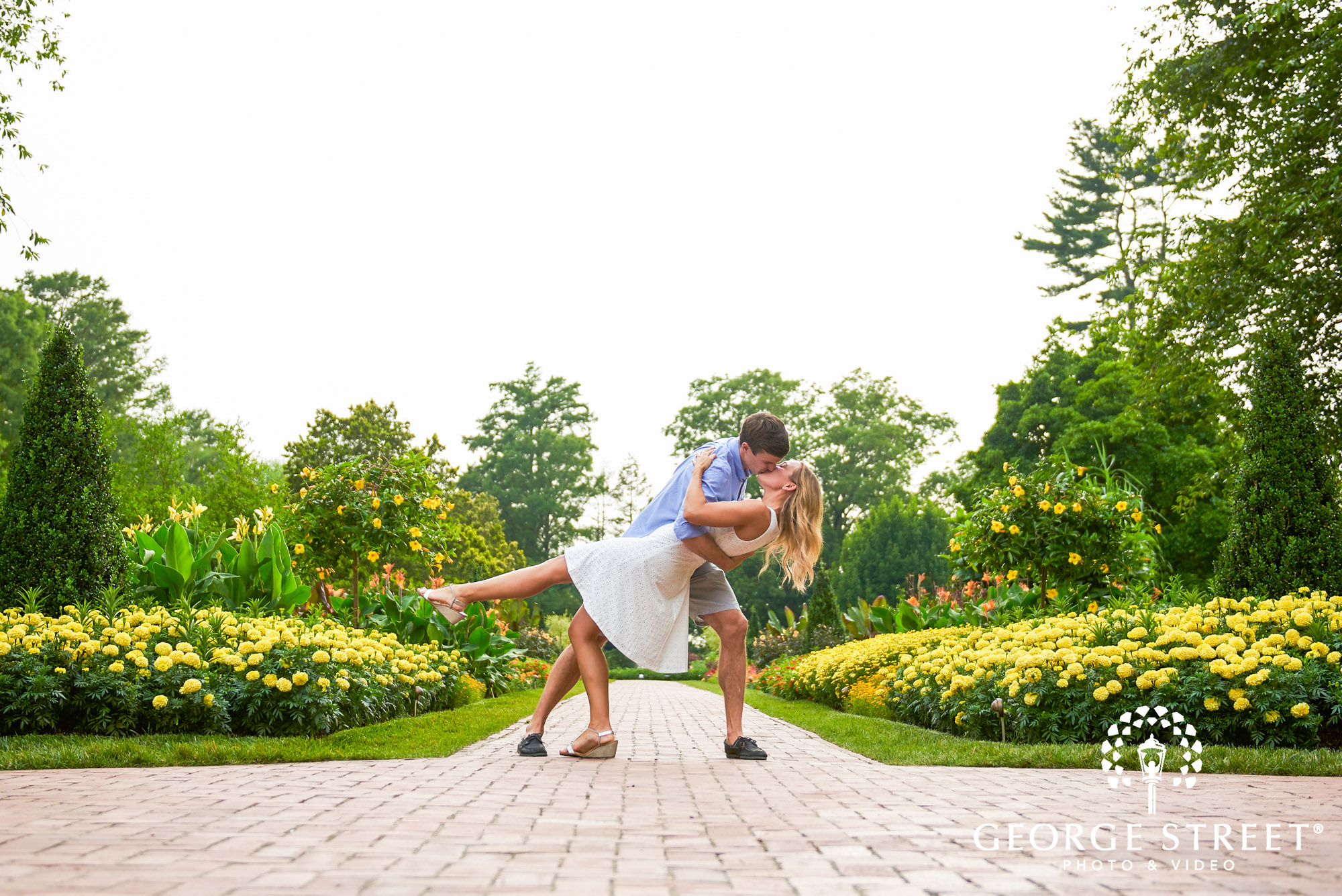 philadelphia summer engagement photos at longwood gardens 3