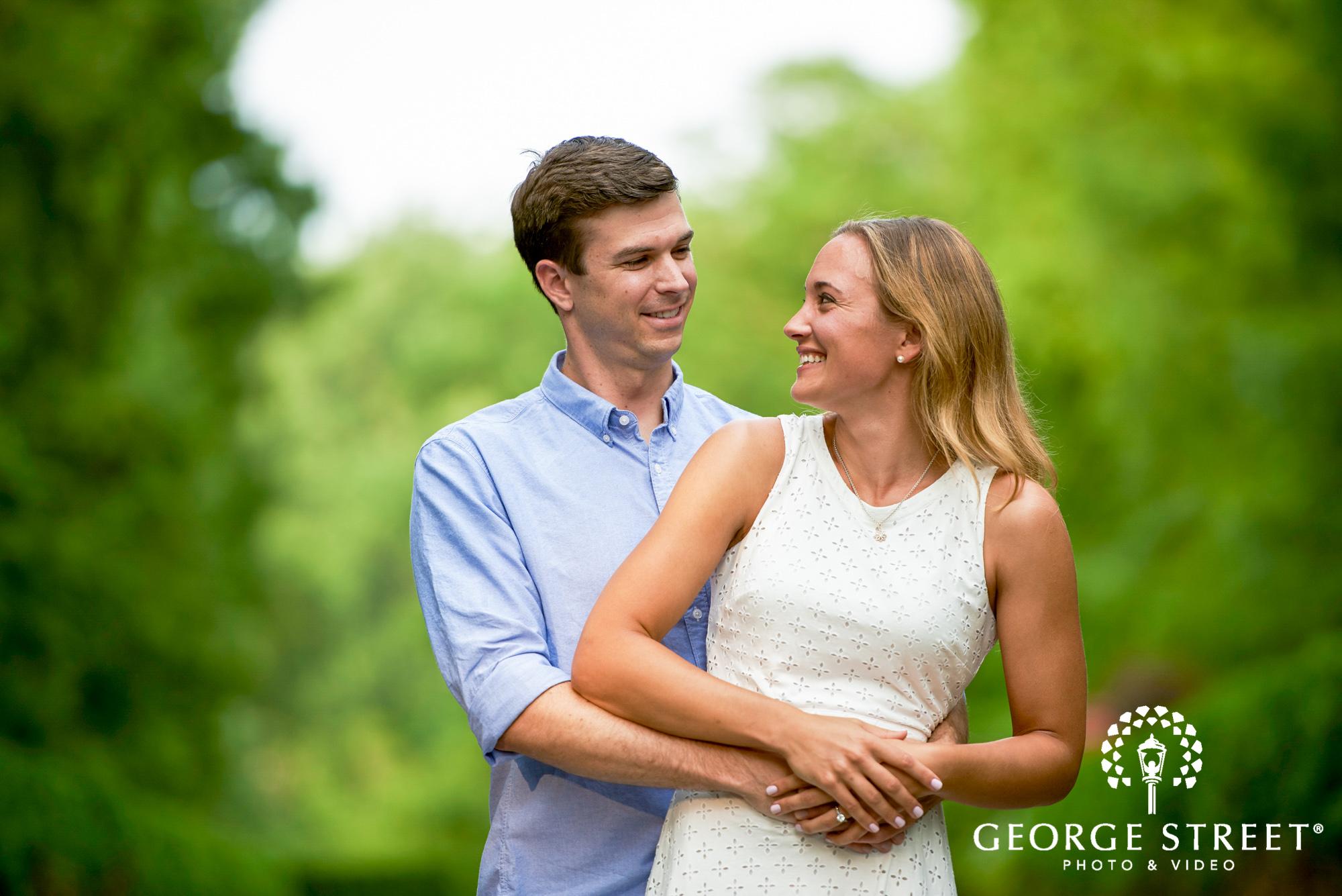 cheerful summer engagement photos philadelphia