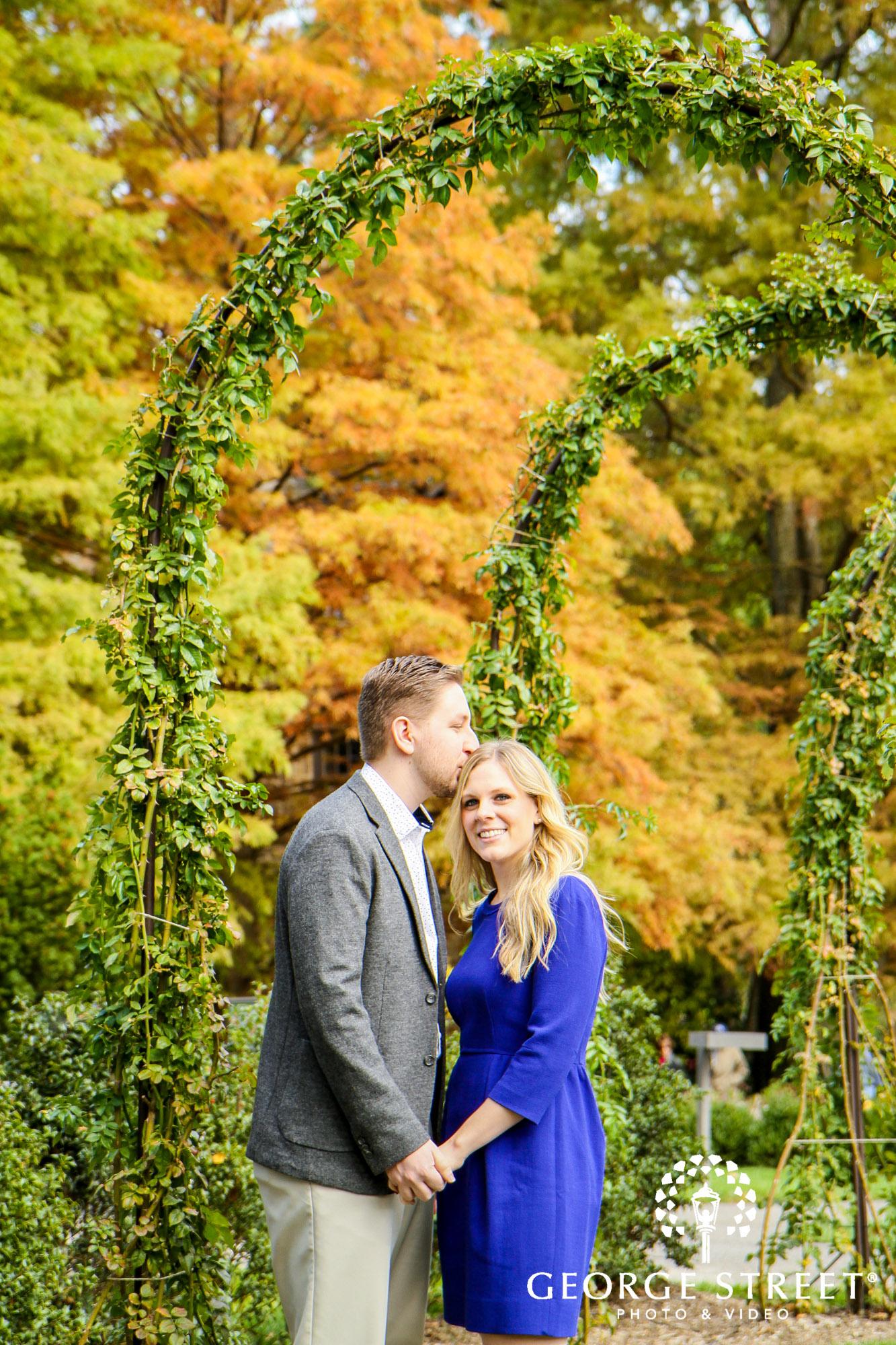 fall engagement photo session at longwood gardens philadelphia