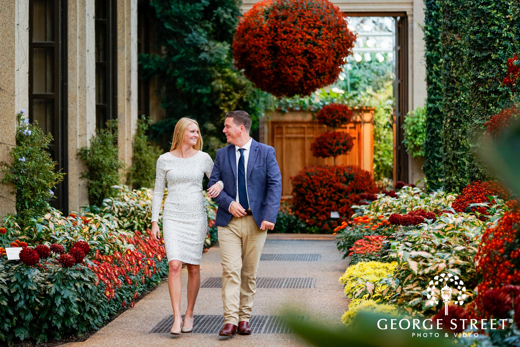 formal engagement portraits in gardens 3