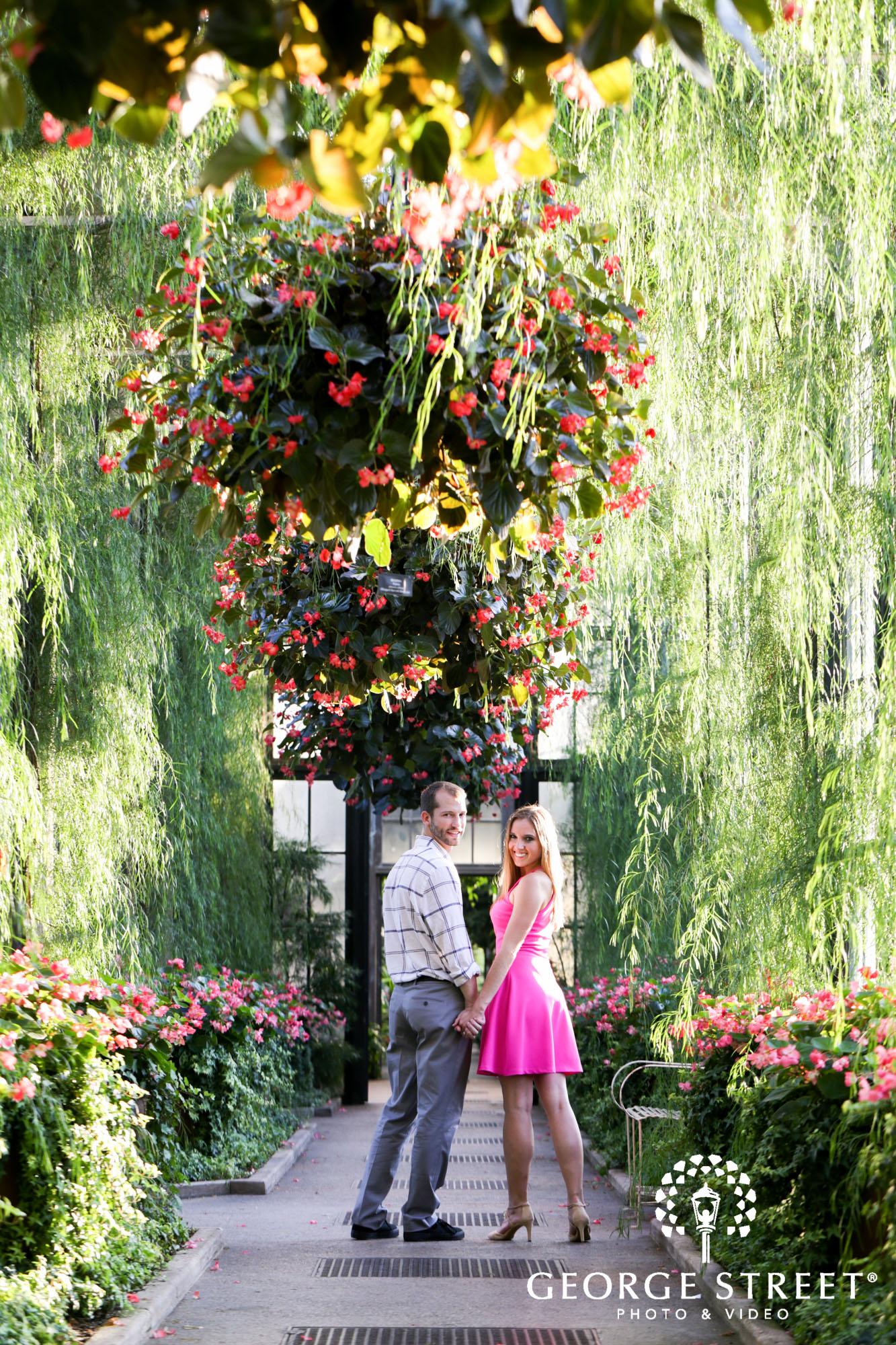 beautiful outdoor longwood gardens engagement portrait session  3