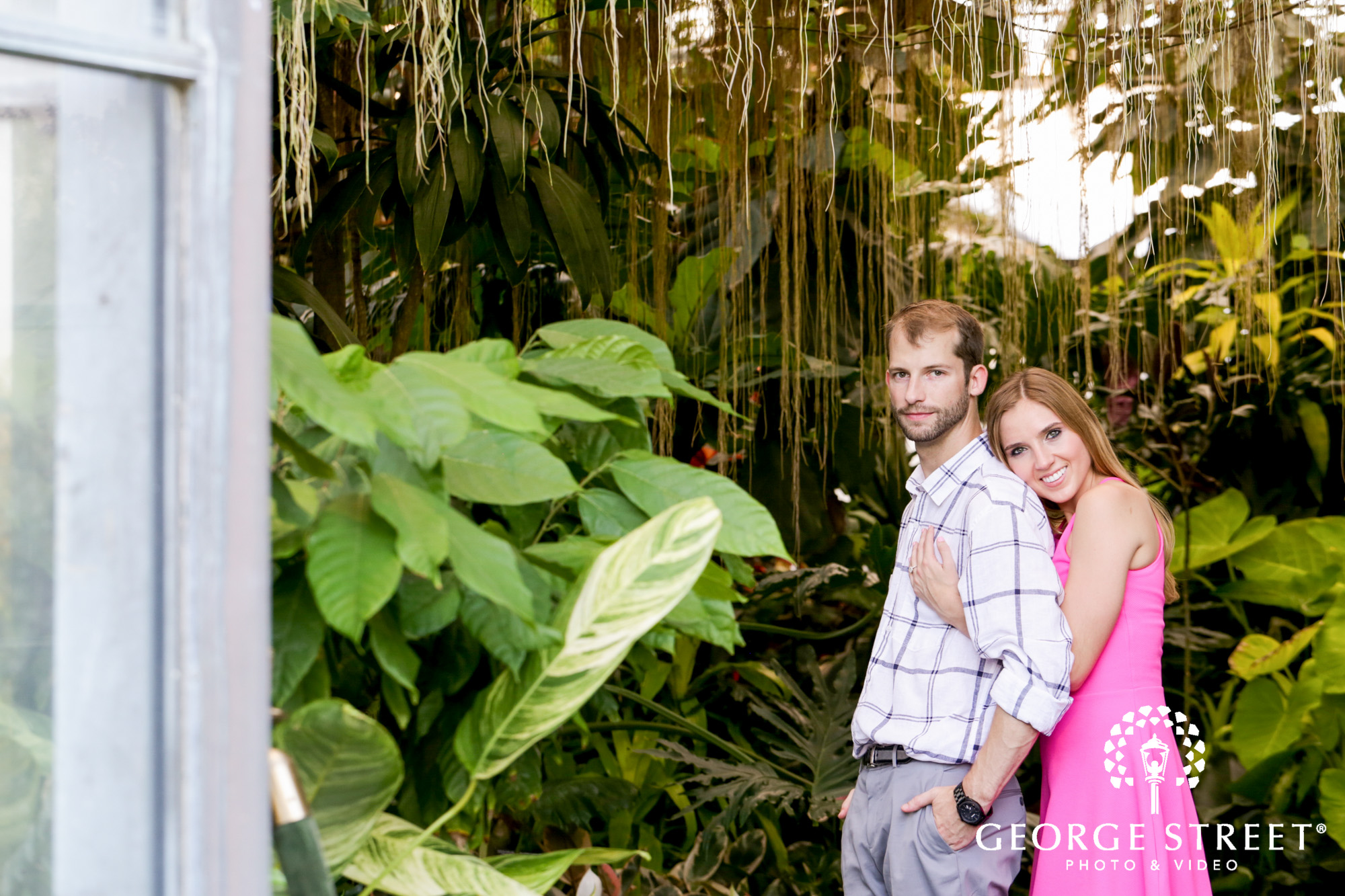 beautiful outdoor longwood gardens engagement portrait session  5