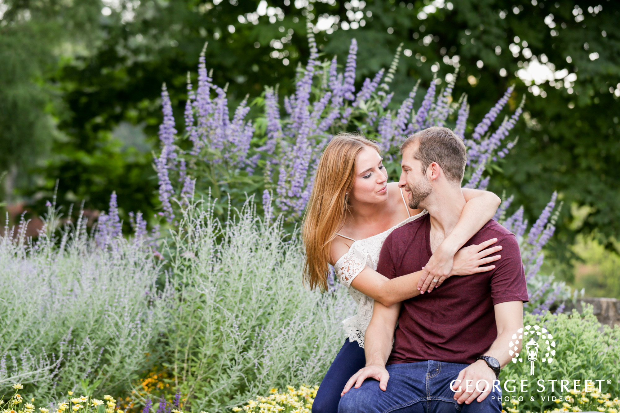 beautiful outdoor longwood gardens engagement portrait session  7