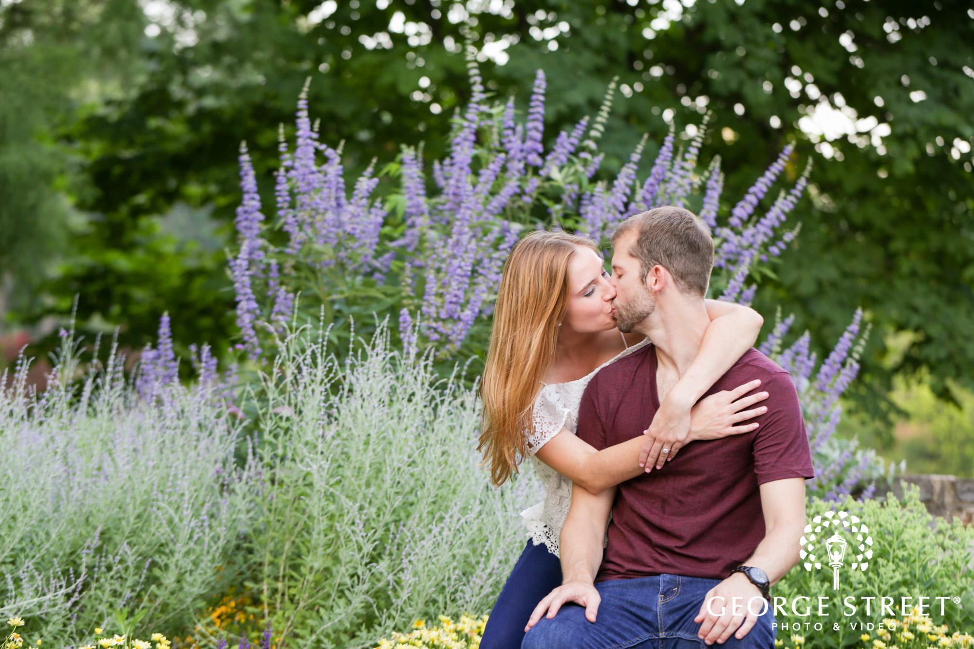 beautiful outdoor longwood gardens engagement portrait session  8