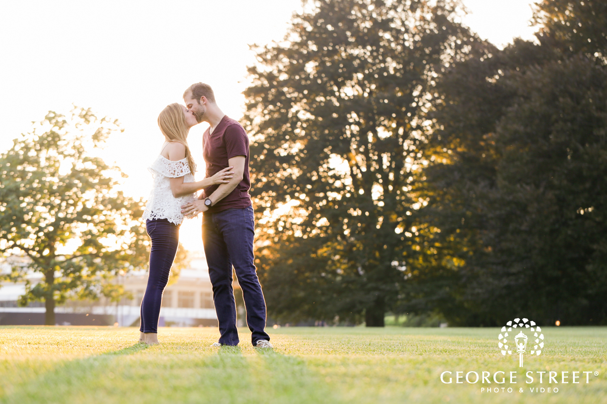 beautiful outdoor longwood gardens golden hour engagement portrait session  2