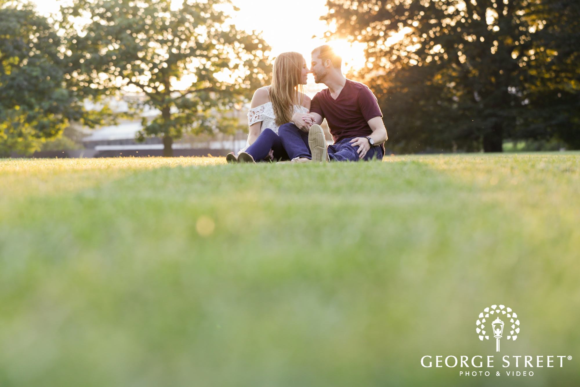 beautiful outdoor longwood gardens golden hour engagement portrait session  3