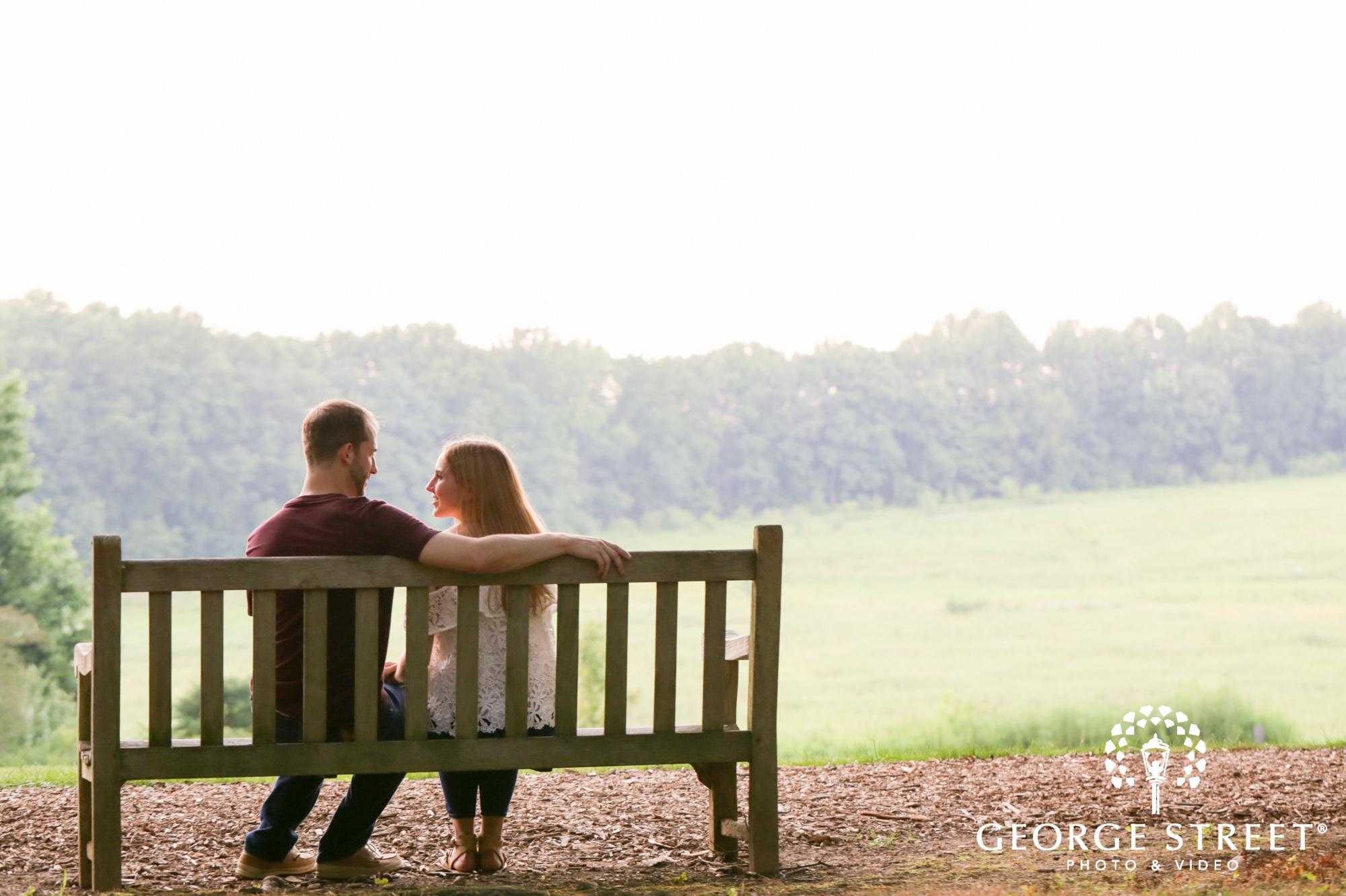 beautiful outdoor summer longwood gardens engagement portrait session  4