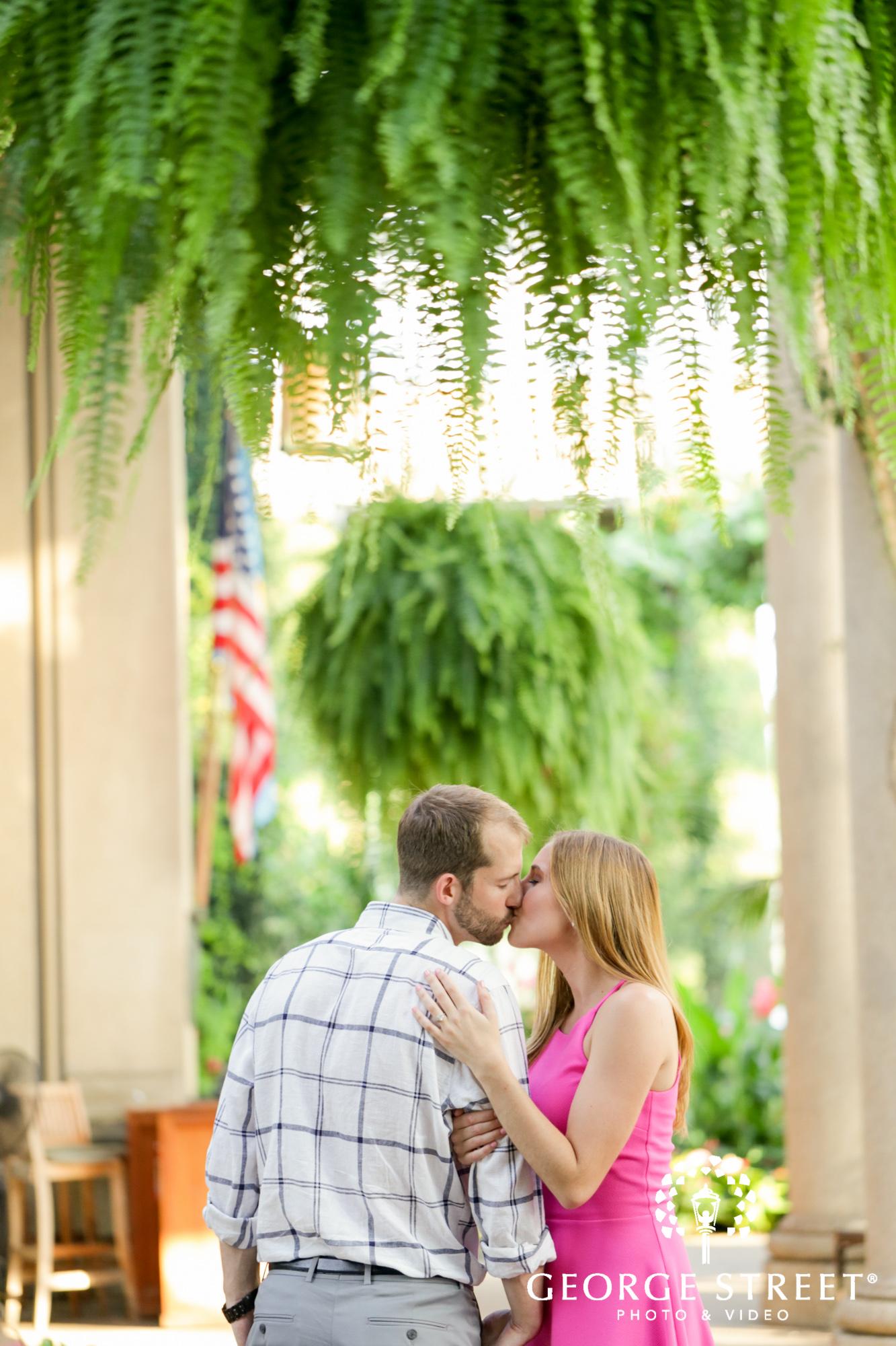 beautiful outdoor vibrant longwood gardens engagement portrait session