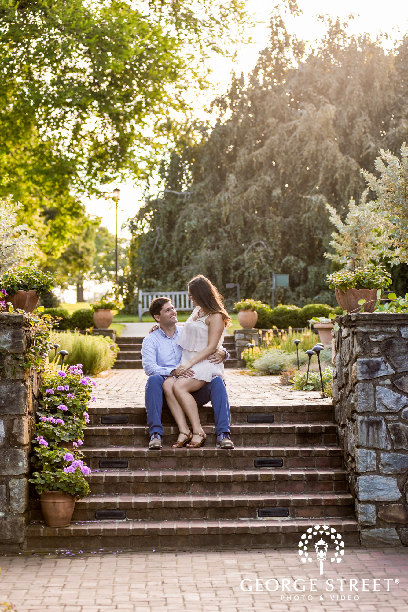 longwood gardens philadelphia summer outdoor engagement photography session candid 4