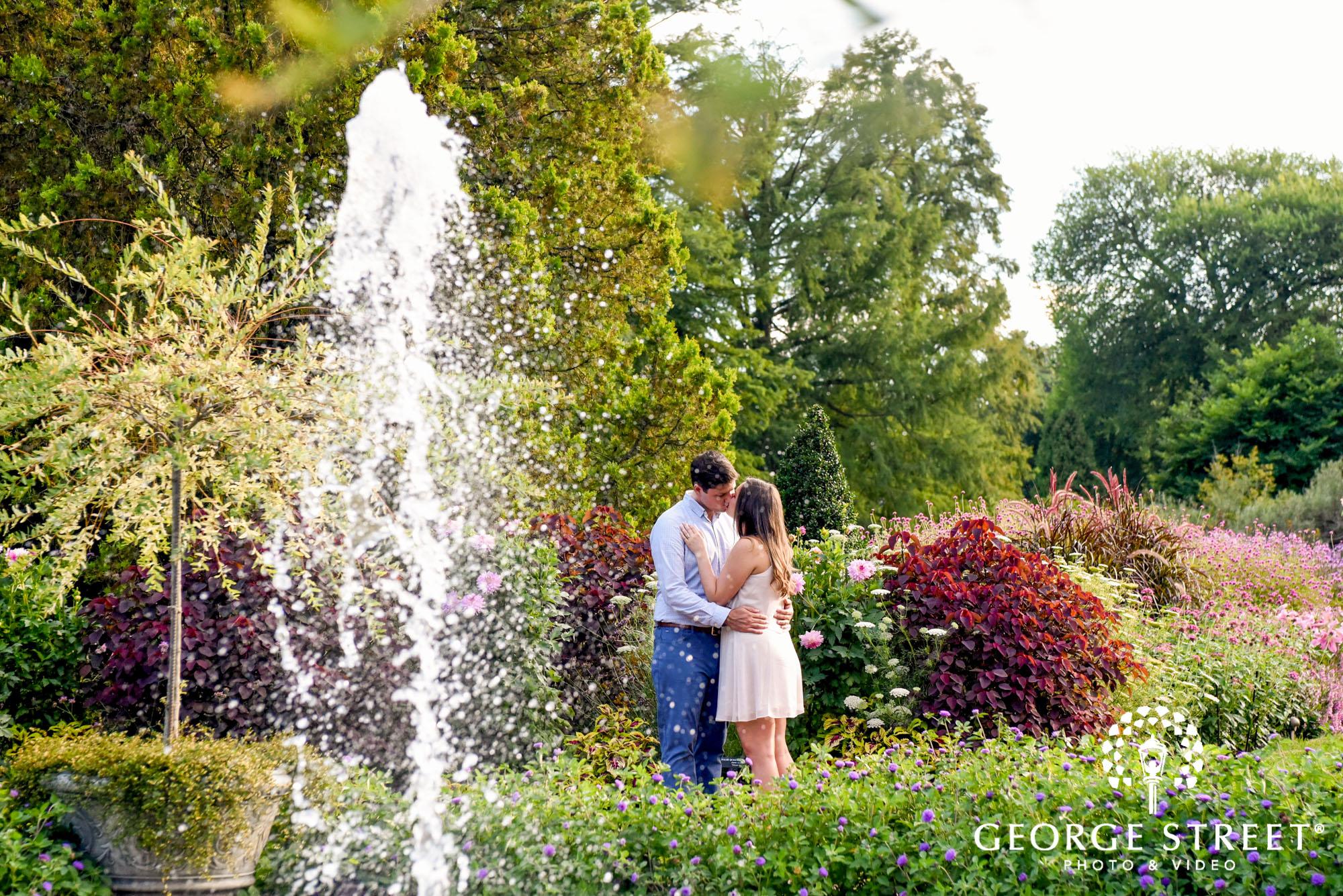 longwood gardens romantic philadelphia engagement photography