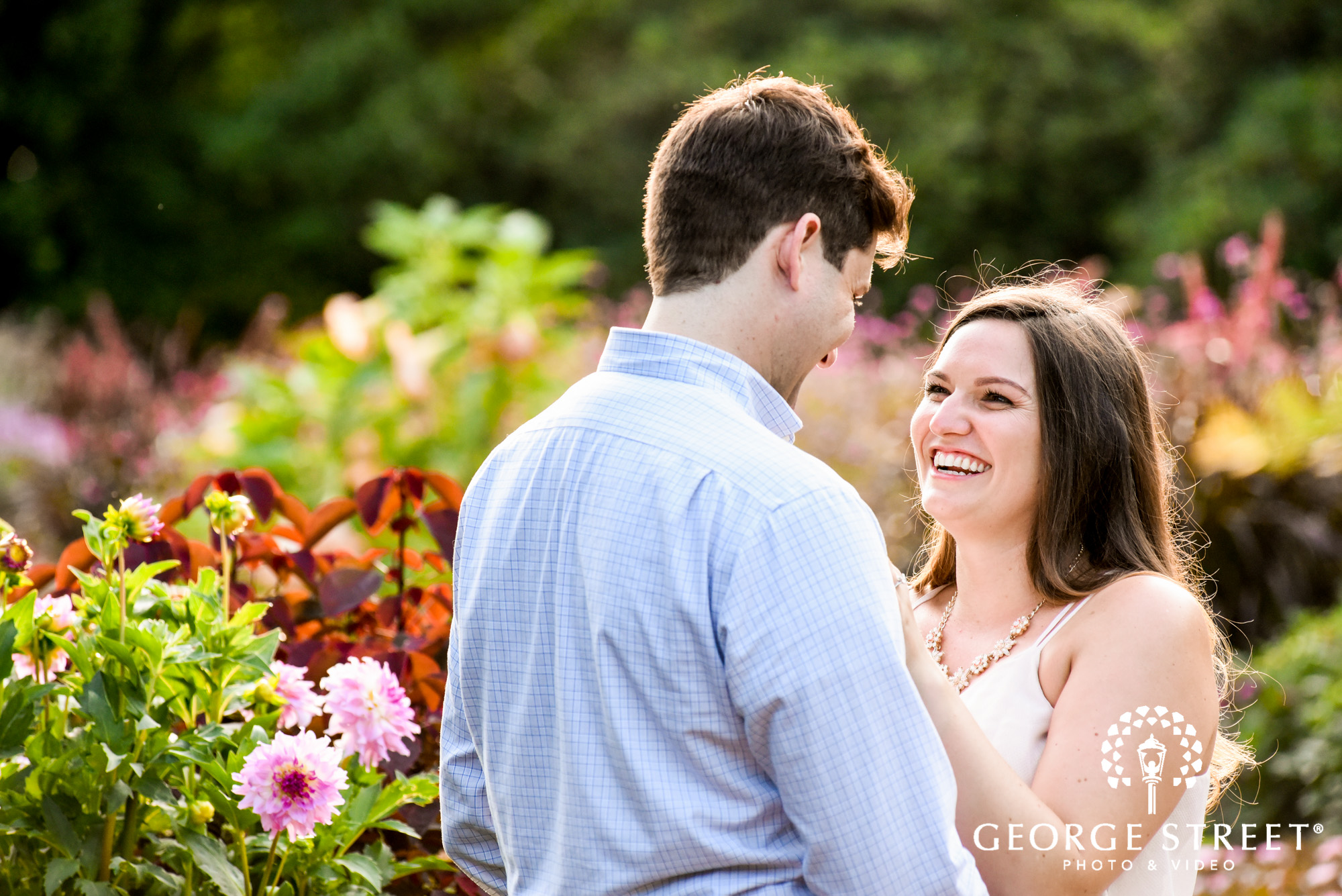 longwood gardens romantic philadelphia engagement photography candid