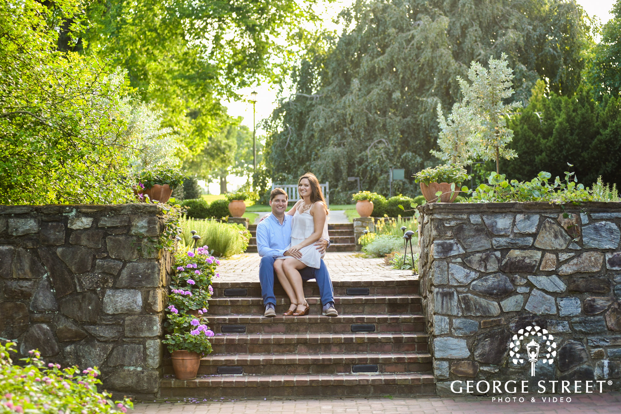 longwood gardens romantic philadelphia summer engagement photography session