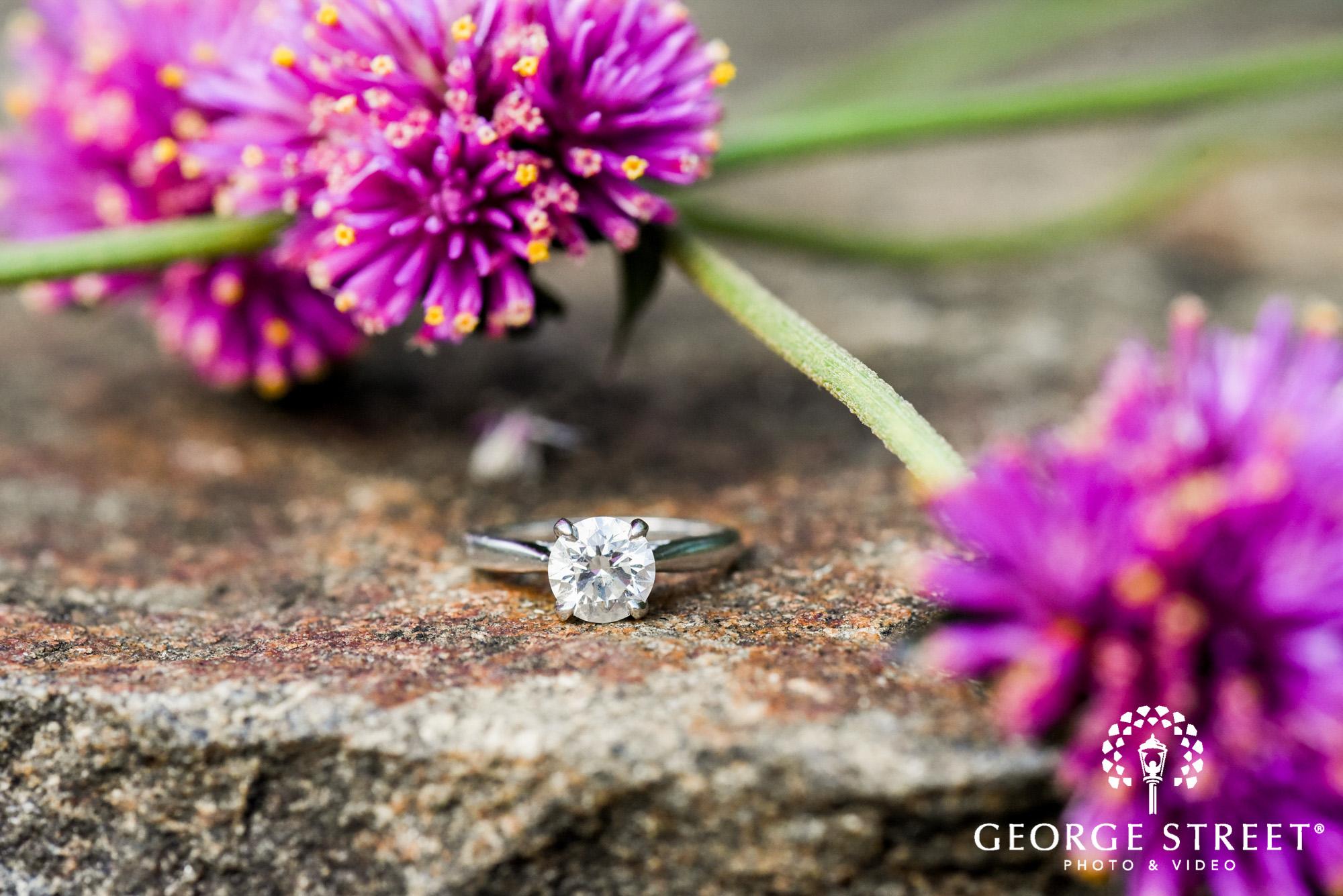 longwood gardens romantic philadelphia summer engagement ring detail