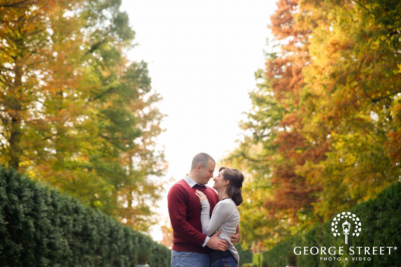 outdoor fall engagement session philadelphia