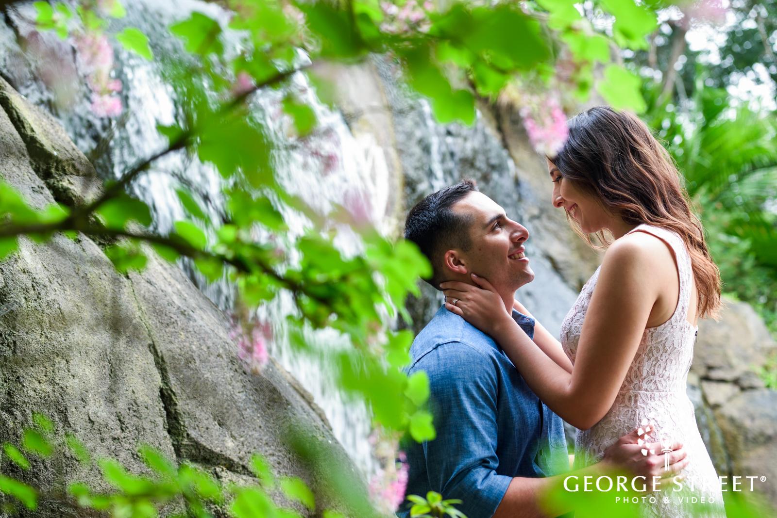 gorgeous outdoor engagement portrait at golden gate state park
