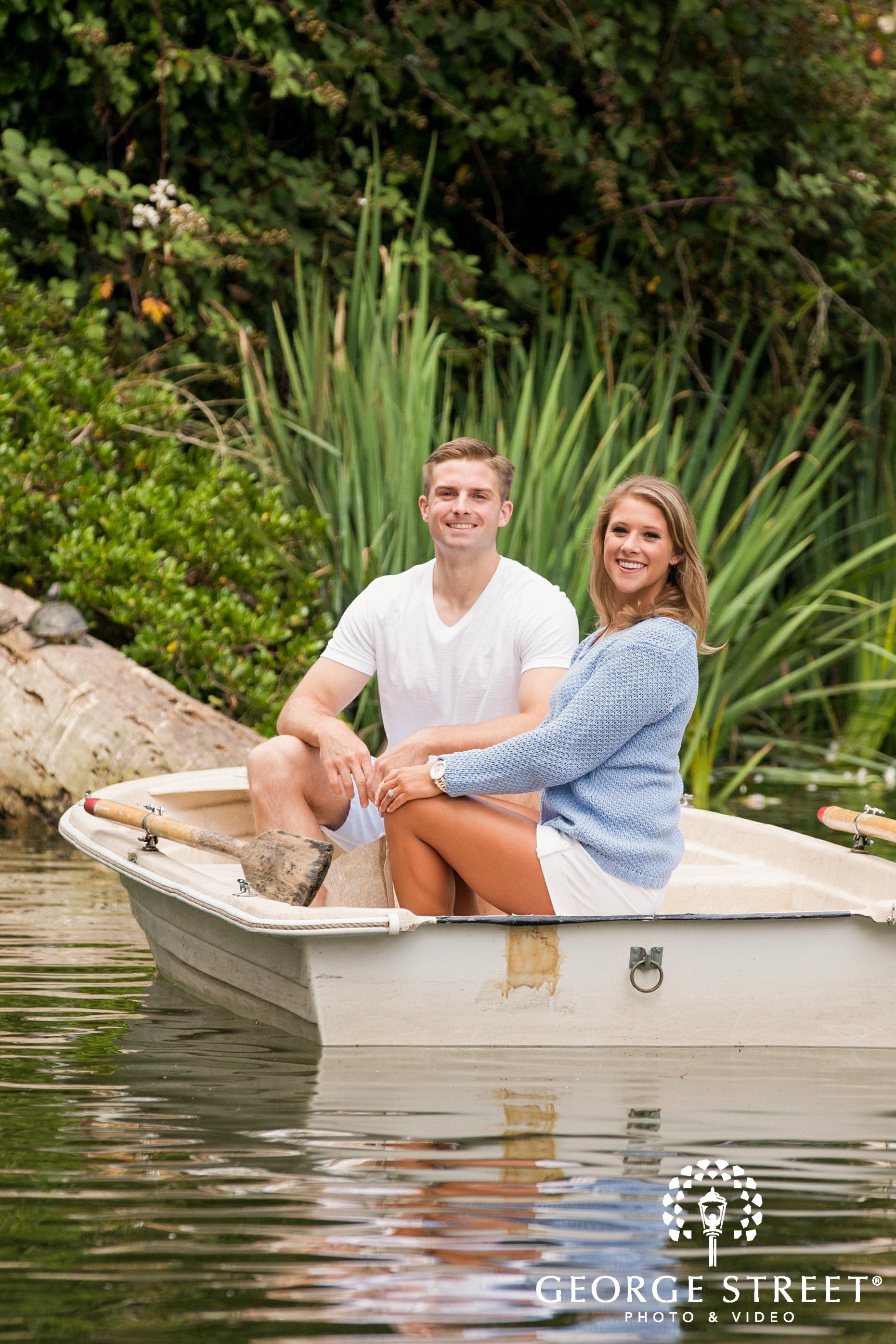 cute couple in boat
