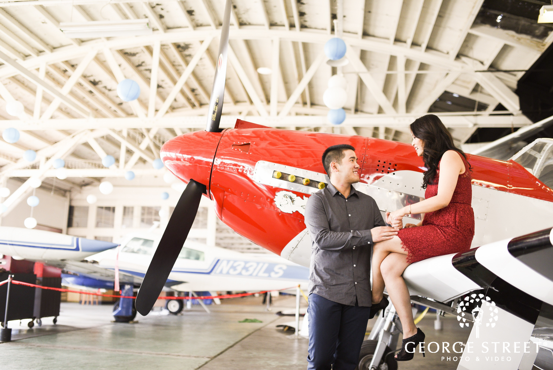oakland air museum san francisco engagement session