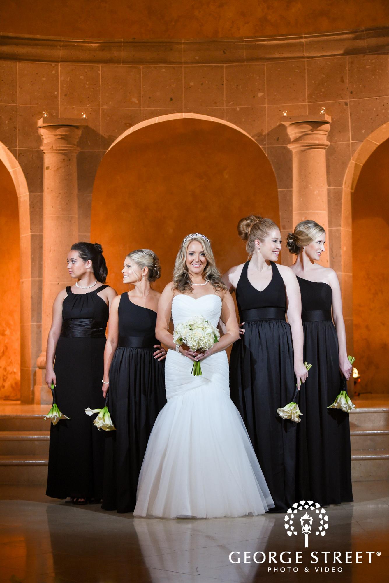 classic bridesmaids wedding portrait