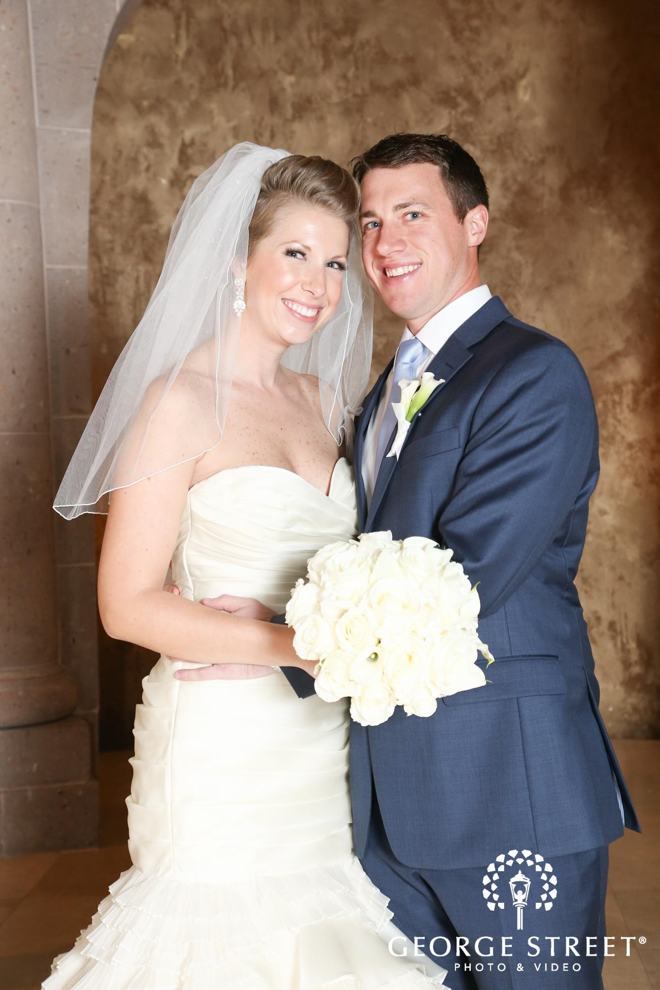 formal bride and groom
