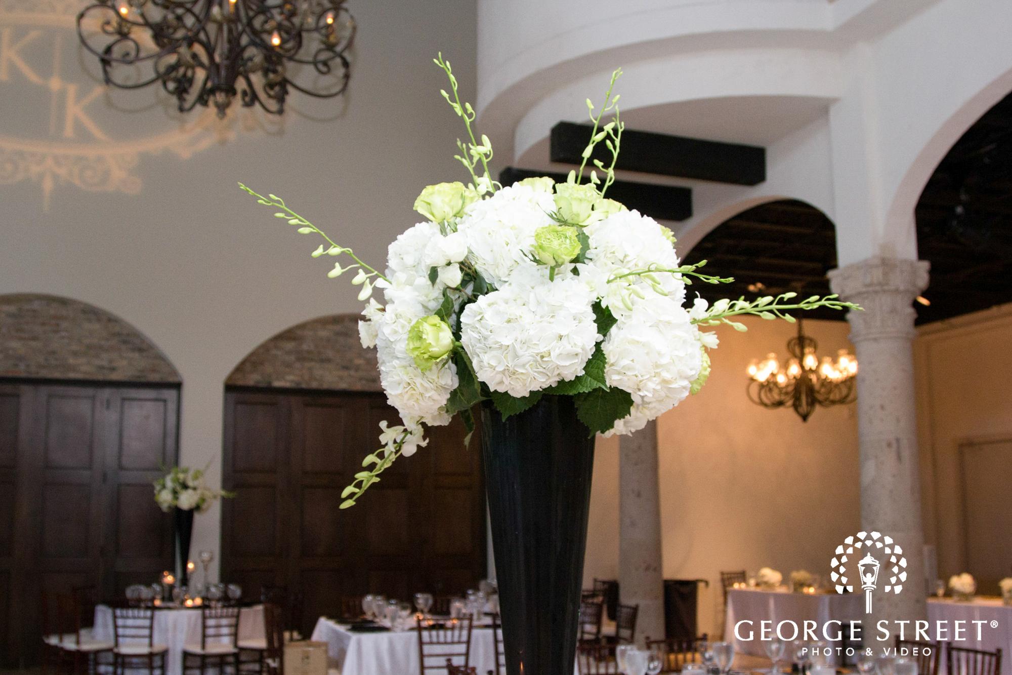white and black floral design