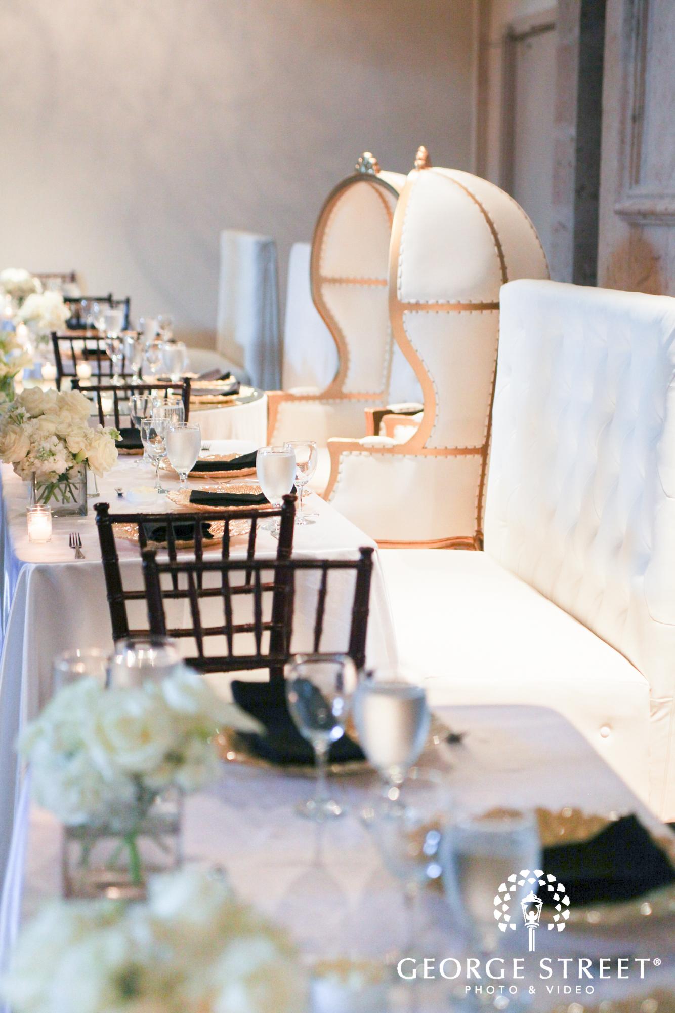 formal wedding reception