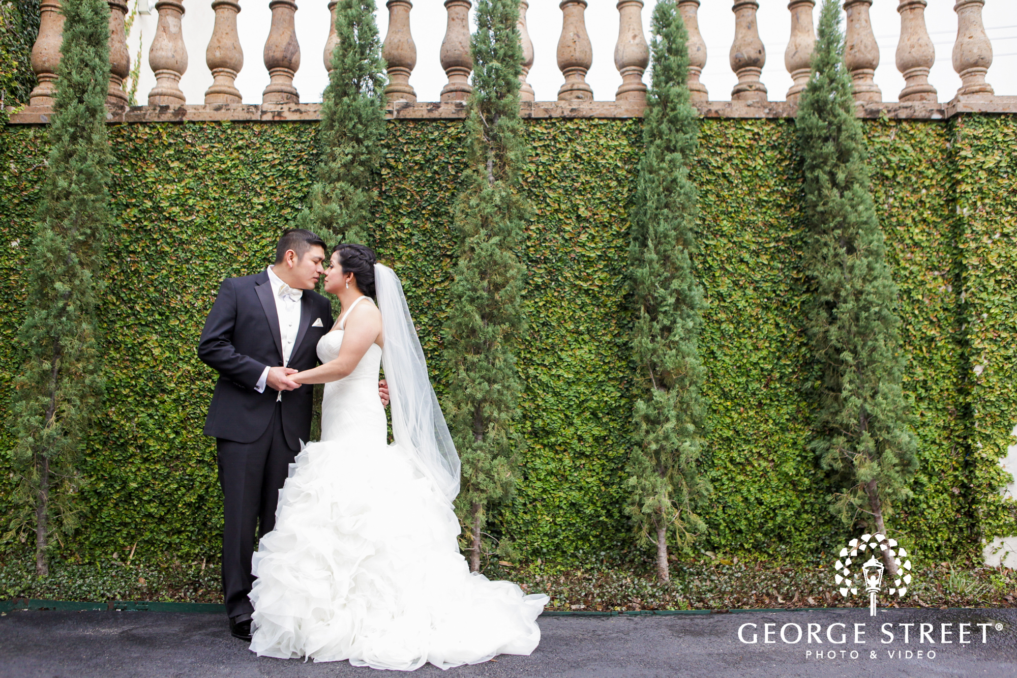 romantic bride and groom formal