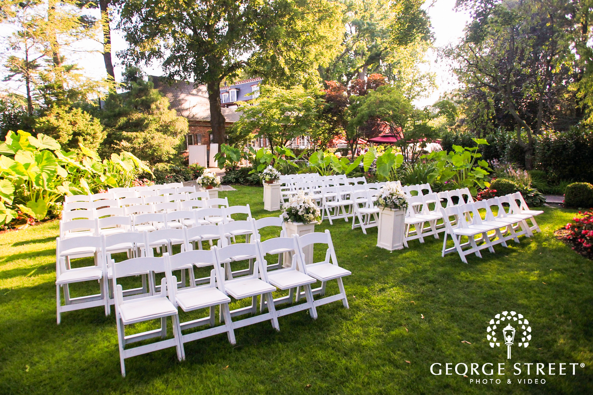 Indoor Classic Wedding Ceremony At Westbury Manor In: George Street Photo & Video
