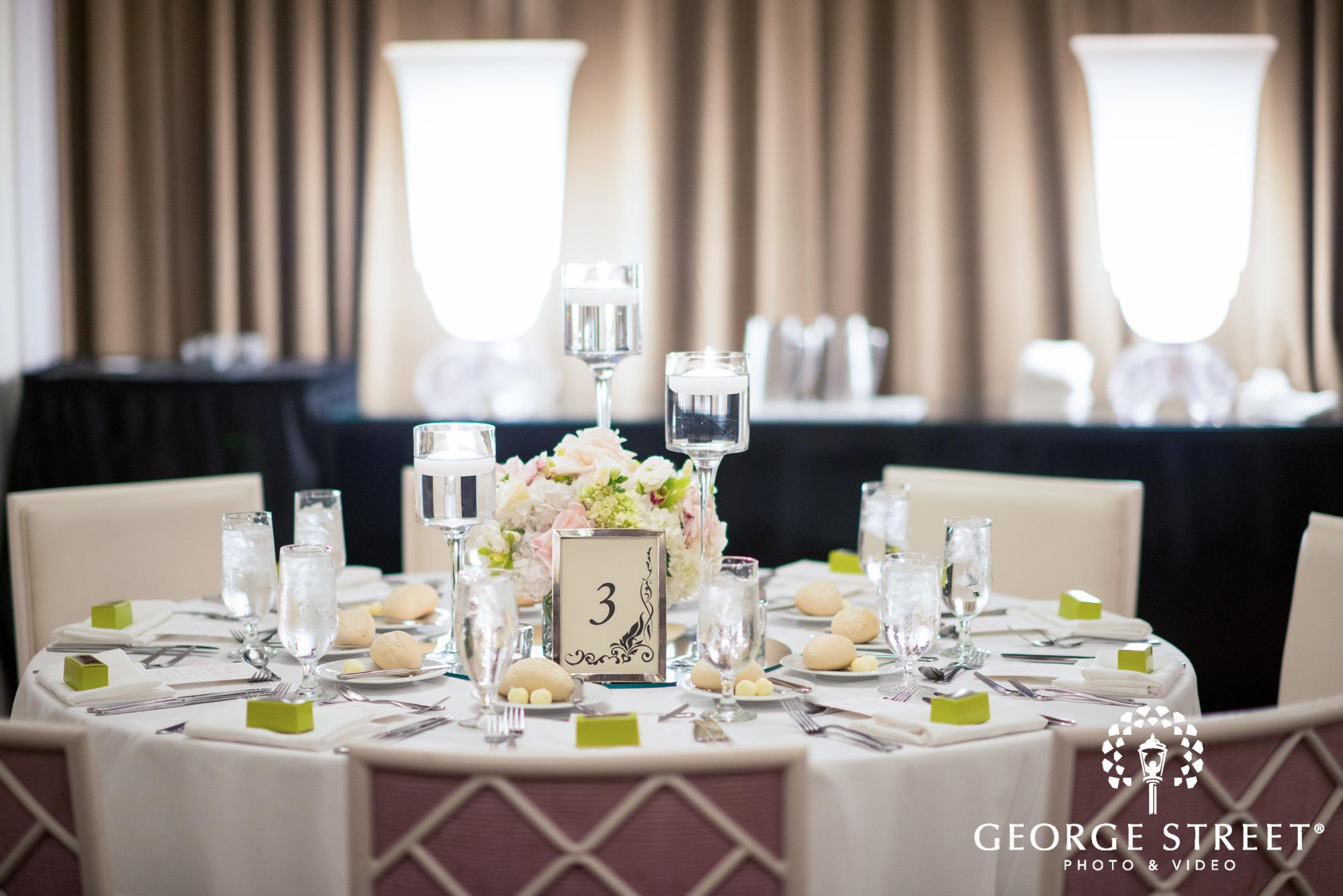 Hotel Monaco Philadelphia Beautiful Indoor Wedding Reception White Table Decor 2