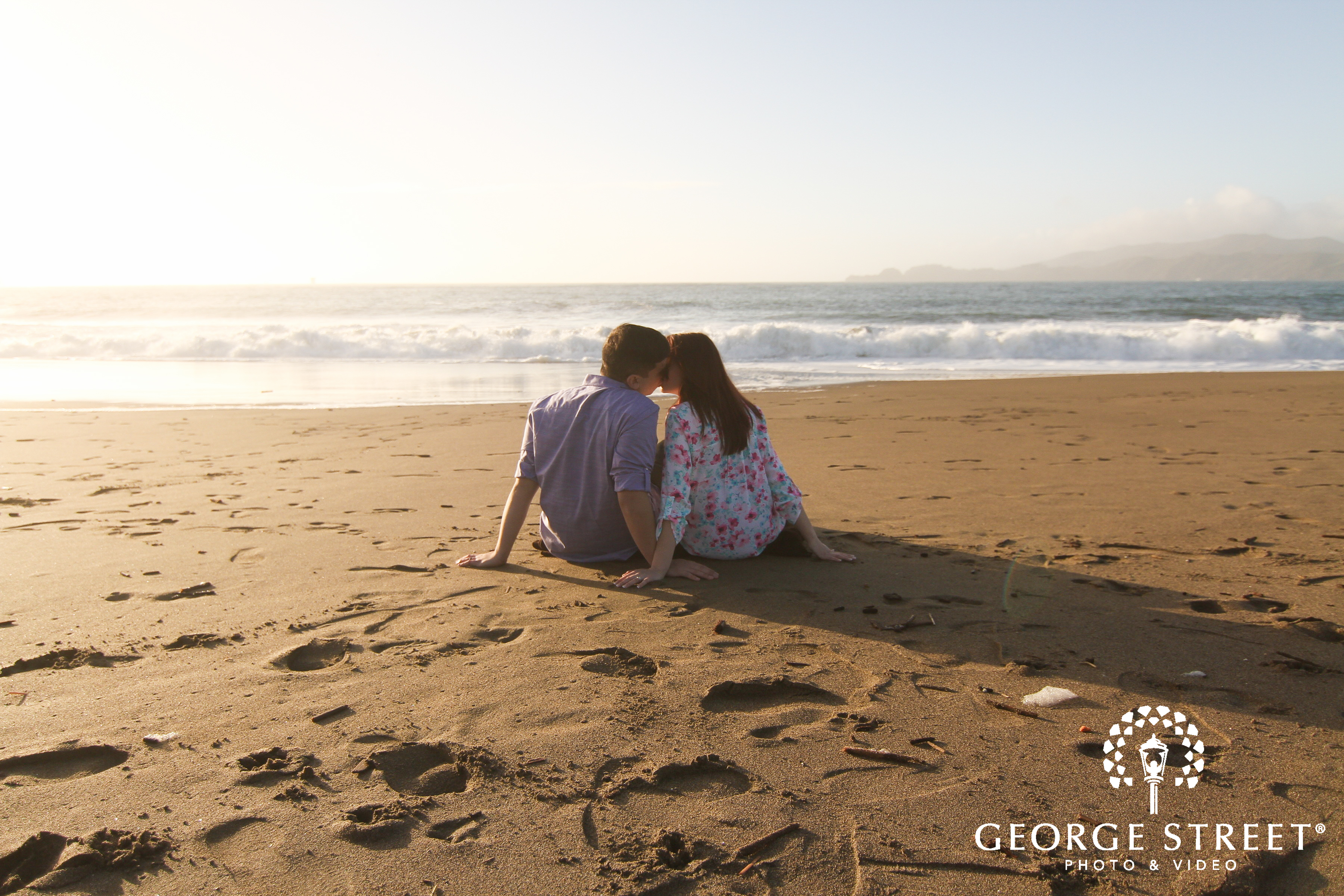 beach engagement session san francisco
